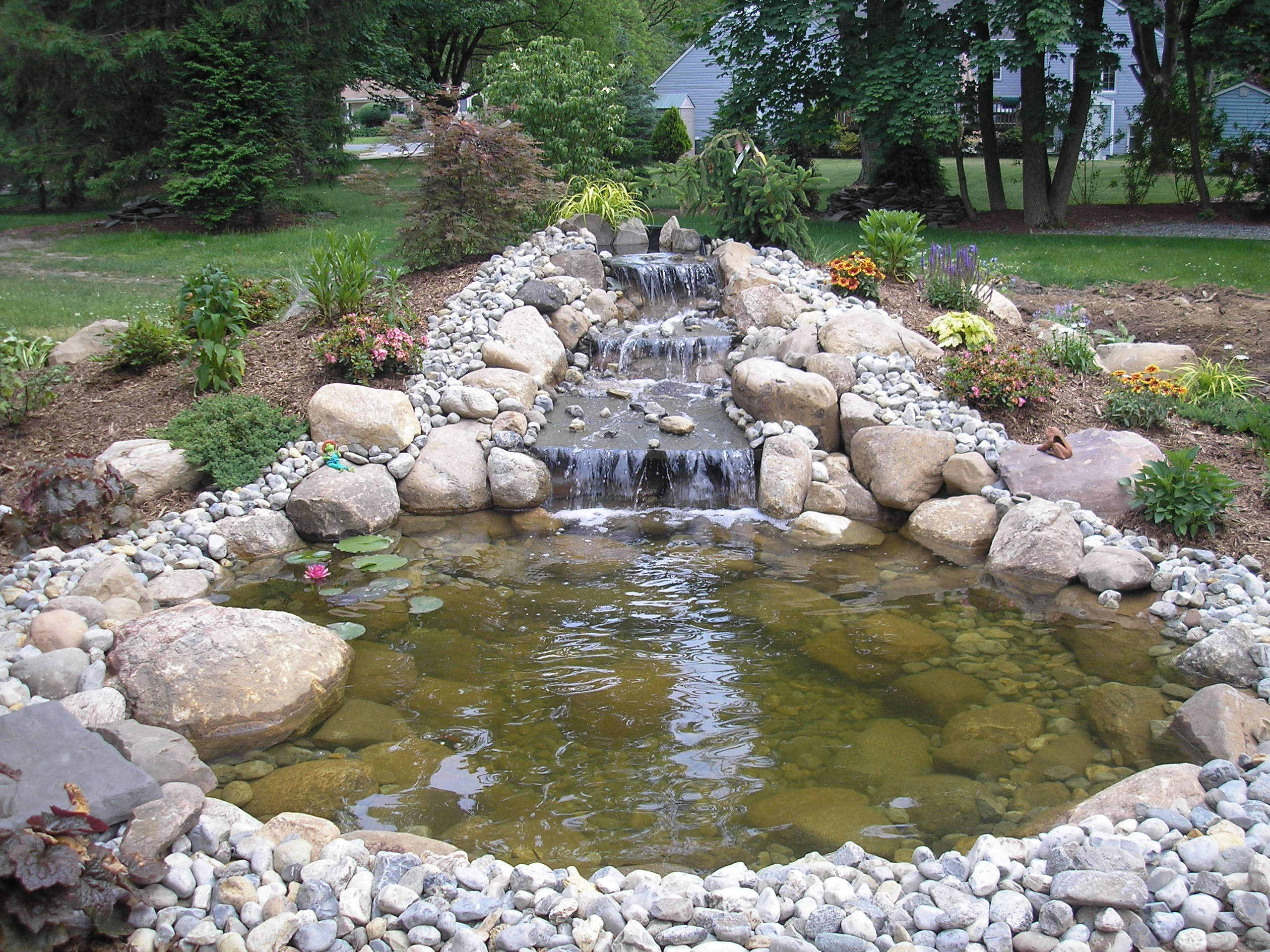 koi fish ponds waterfalls into pools and pondless waterfalls